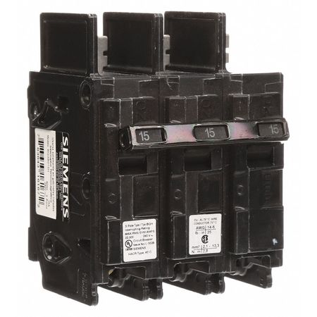 3P High Interrupt Capacity Circuit Breaker 15A 240VAC