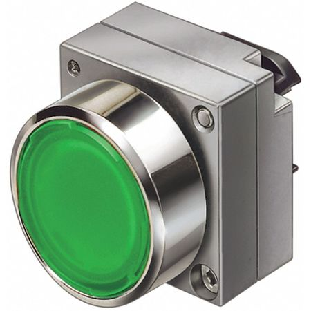 Illum Push Button Operator, 22mm, Green