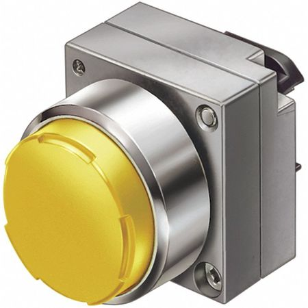 Push Button, 22mm, Extended Button, Yellow
