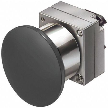 Push Button, 22mm, 1.57 In. Mushroom, Black
