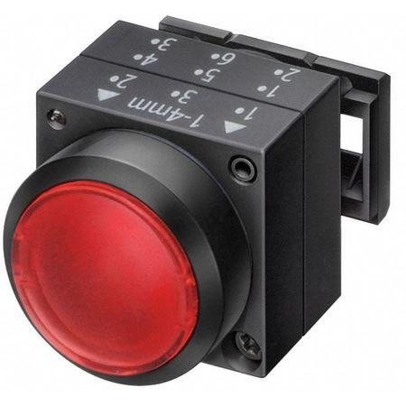 Illum Push Button Operator, 22mm, Red
