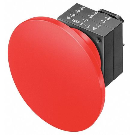 Push Button, 22mm, 2.36 In. Mushroom, Red