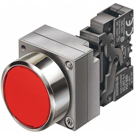 Non-Illuminated Push Button, 22mm, Metal
