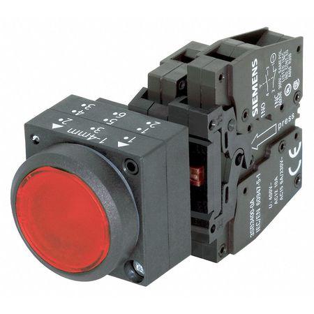 Illuminated Push Button, 22mm, Red