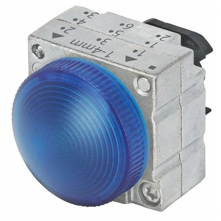Pilot Light, Blue, 22mm, Round, Metal