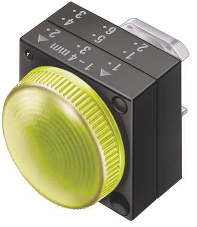Pilot Light, Yellow, 22mm, Round, Plastic