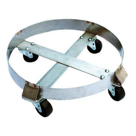 Drum Dolly, 800 lb., 6-1/2 In H, 30 gal.