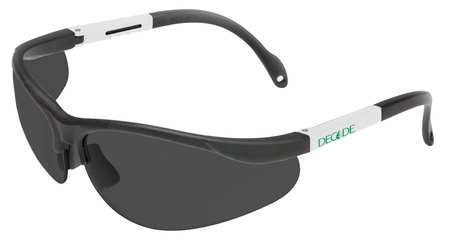 Decade Gray Safety Glasses,  Scratch-Resistant,  Half-Frame