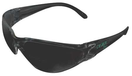 Decade Gray Safety Glasses,  Scratch-Resistant,
