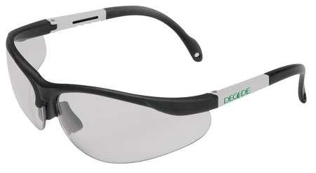 Decade Clear Safety Glasses,  Scratch-Resistant,  Half-Frame