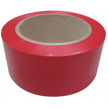 Safety Warning Tape, Roll, 108 ft., Red