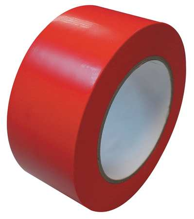 Marking Tape, Roll, 2In W, 108 ft.L, Red