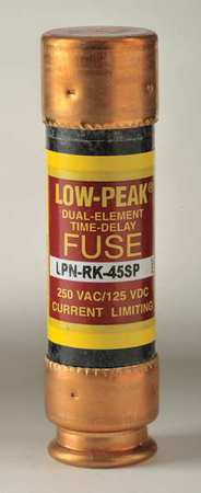 45A Time Delay Melamine Class RK1 Fuse 250VAC/125VDC
