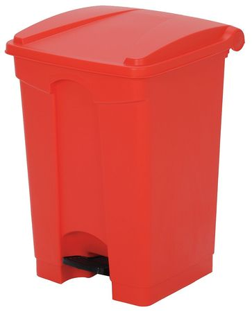 12 gal. Red Plastic Square Fire-Resistant Trash Can
