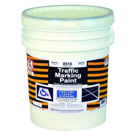 Traffic Marking Paint, White, 5 gal.