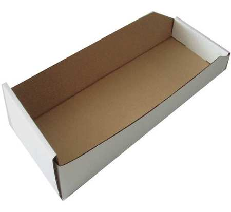 Corrugated Shelf Bin, W 4-1/4, Hopper