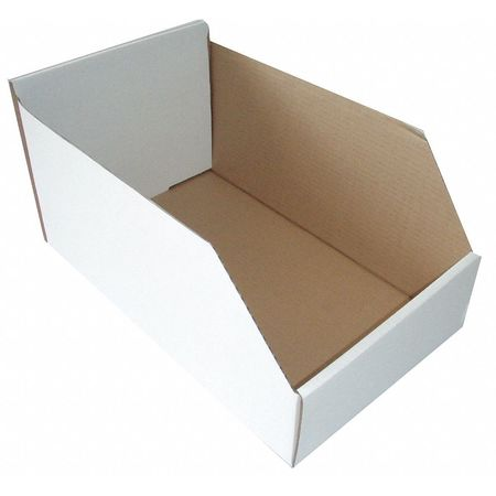 Corrugated Shelf Bin, W 8-1/4, Hopper