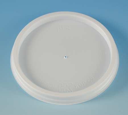 4 fl. oz. White Cup Lid,  Flat,  Vented,  Pk1000