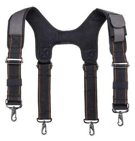 Padded Tool Belt Suspenders,  Gray
