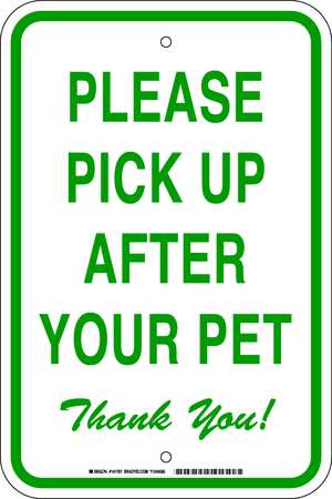 Notice Sign, 12 x 18In, GRN/WHT, ENG, Text