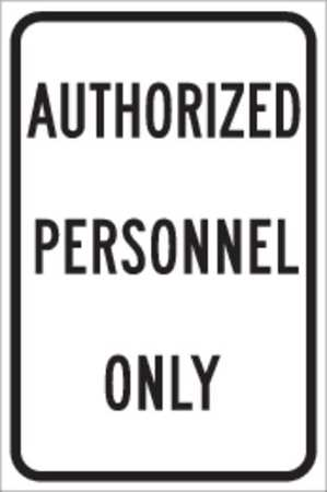 Parking Sign, 18 x 12In, BK/WHT, ENGR GR AL