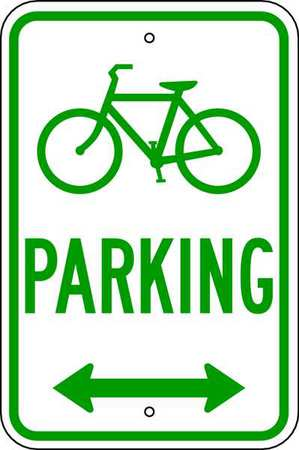 Parking Sign, 18 x 12In, GRN/WHT, PRKG