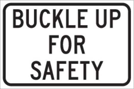 Traffic Sign, 12 x 18In, BK/WHT, ENGR GR AL