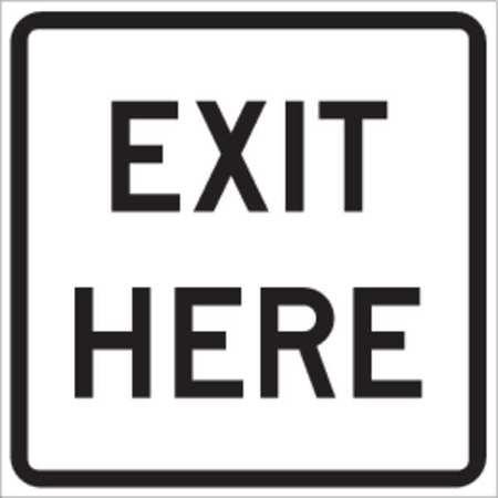 Traffic Sign, 18 x 18In, BK/WHT, ENGR GR AL