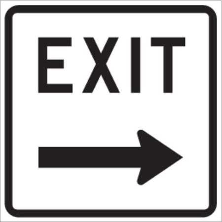 Exit Sign, 18 x 18In, BK/WHT, ENGR GR AL