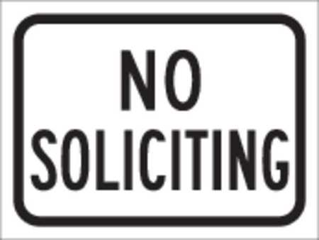 Traffic Sign, 9 x 12In, BK/WHT, ENGR GR AL