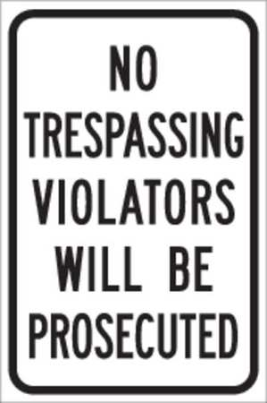 Traffic Sign, 18 x 12In, BK/WHT, ENGR GR AL