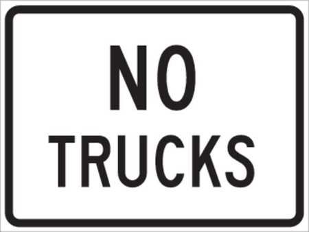 Traffic Sign, 18 x 24In, BK/WHT, ENGR GR AL