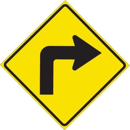 Traffic Sign, 24 x 24In, BK/YEL, ENGR GR AL