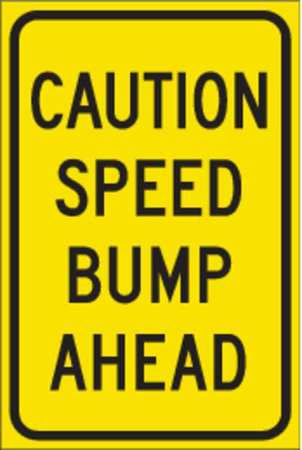 Traffic Sign, 18 x 12In, BK/ORN, ENGR GR AL