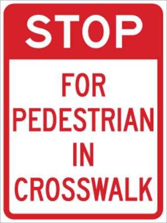 Traffic Sign, 24 x 18In, R/WHT, ENGR GR AL