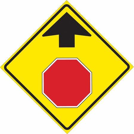 Traffic Sign, 30 x 30In, R,  BW/FLUOR YEL