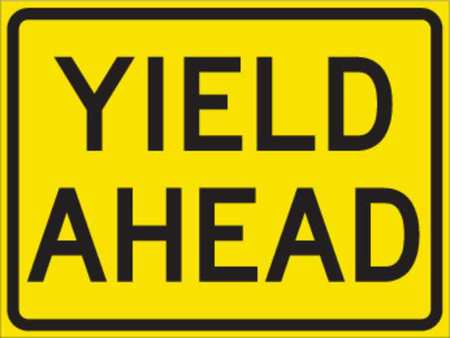 Traffic Sign, 18 x 24In, BK/YEL, ENGR GR AL