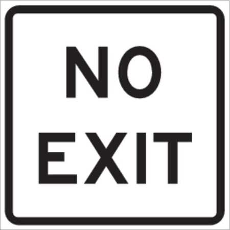 Traffic Sign, 18 x 18In, BK/WHT, ENGR GR AL