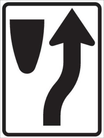 Traffic Sign, 24 x 18In, BK/WHT, ENGR GR AL