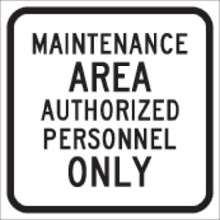 Traffic Sign, 12 x 12In, BK/WHT, ENGR GR AL