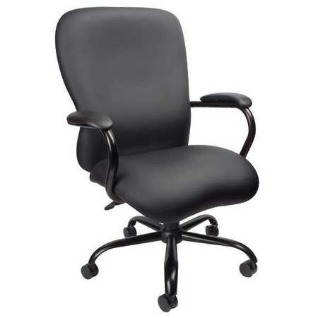 "Executive Chair,  Vinyl Black,  Height 42-1/2"" to 45-1/2"""