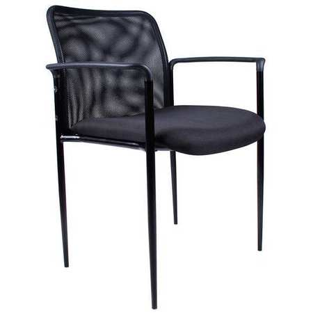 Guest Chair, Mesh Back, Black, 33 in.
