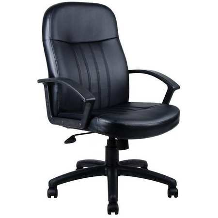 "Executive Chair,  Leather/Polyurethane Black,  Height 40-1/2"" to 44"""