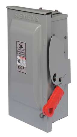 60 Amp 240VAC Single Throw Safety Switch 3P
