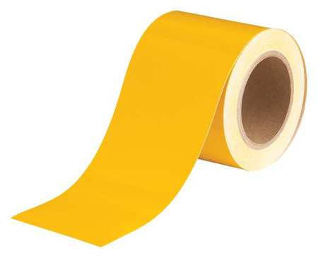 Banding Tape, Yellow, 4 In. W, 90 ft. L