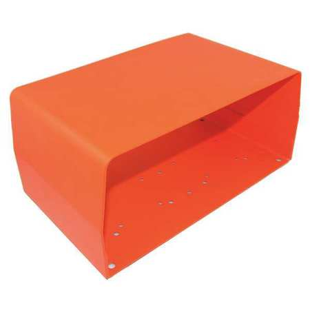 FootSw Guard, Steel, Orange, 11x4.92x6.5