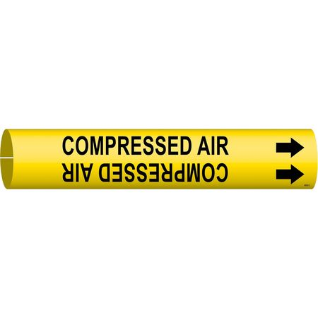 Pipe Mrkr, Compressed Air, 2-1/2to3-7/8 In