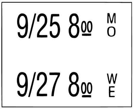 Date Coder Label, 3/4 In. H, PK6000