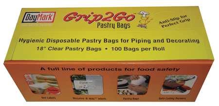 """Pastry Bag, 1/8 gal., 18""""L x 8""""W, PK100"""