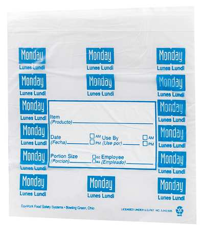 Day Portion Bag, Monday, PK2000
